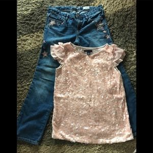 GapKids Modern Dance 💃 Jeans And Top Size 10